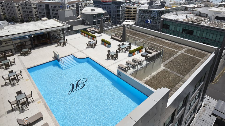 Heritage Auckland Rooftop Pool Aerial